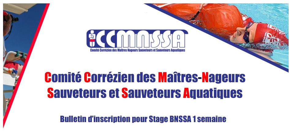 Bulletin d'inscription pour Stage BNSSA 1 semaine